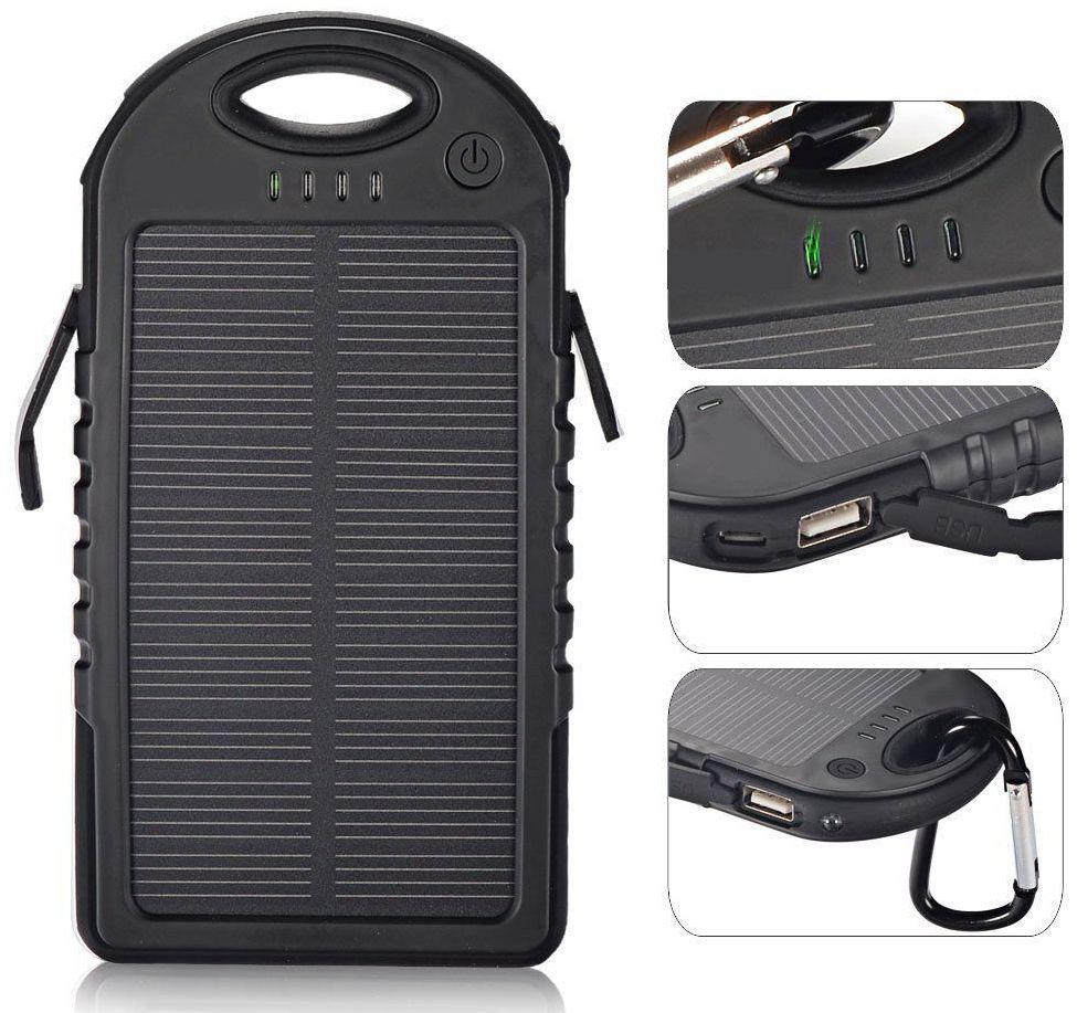 sale retailer 92204 f6a44 10000mAh Solar Power Bank Waterproof Portable Solar Charger