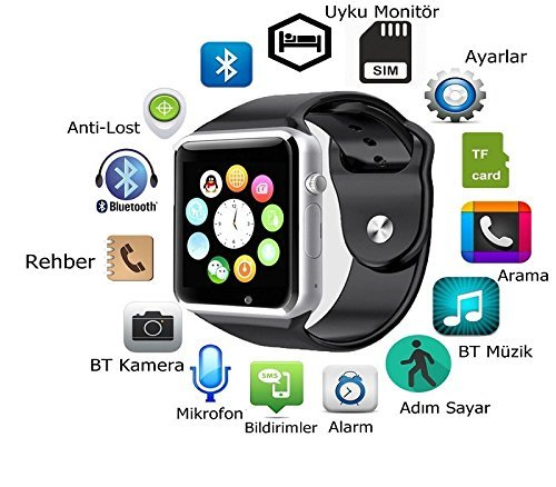 Bluetooth-Smart-Watch-A1-Bluetooth-Waterproof-GSM-SIM-Phone-Smart-Watch-For-Android-IOS-Smart-Phones-Black-0-1